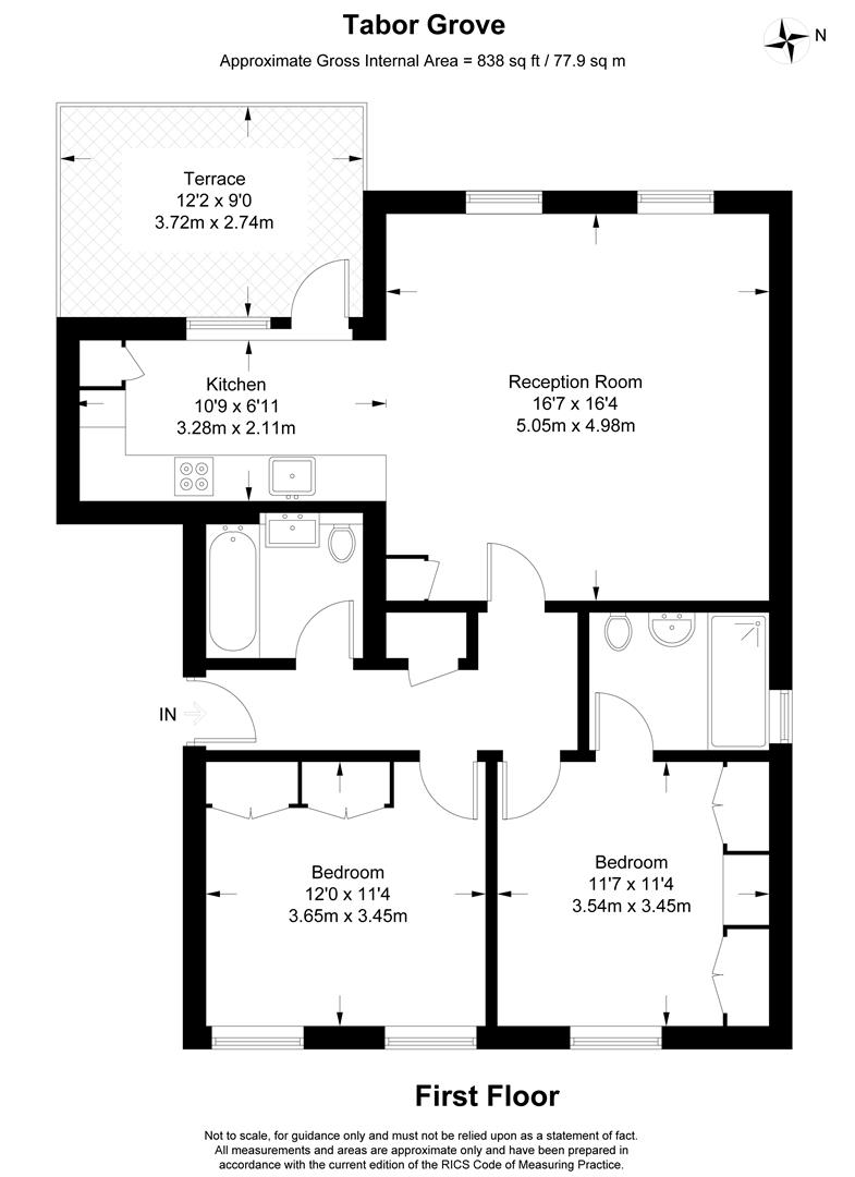 Floorplan for Tabor Grove, London